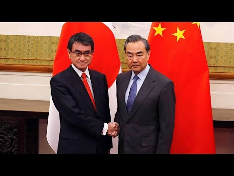 Japan's Foreign Minister Taro Kono visits China