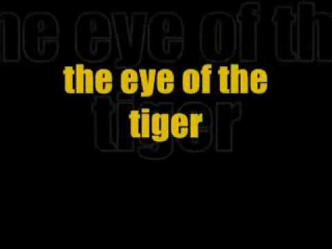 Eye Of The Tiger Survivor Karaoke Lyrics video