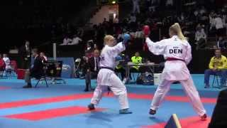 Anita Serogina vs Michelle Jensen - Female Kumite -61kg - 49th European Karate Championships