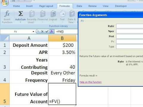 Excel - Future Value Function