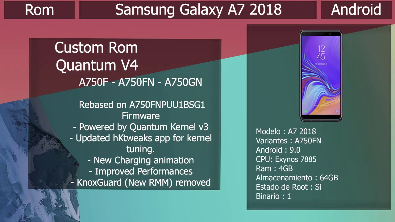 Rom Quantum V4 - Android 9 0 - Samsung Galaxy A7 2018