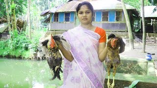Village Food - Wow! Amazing Village Woman Chicken Cutting And Cooking / So Yummy Desi Chicken Foods