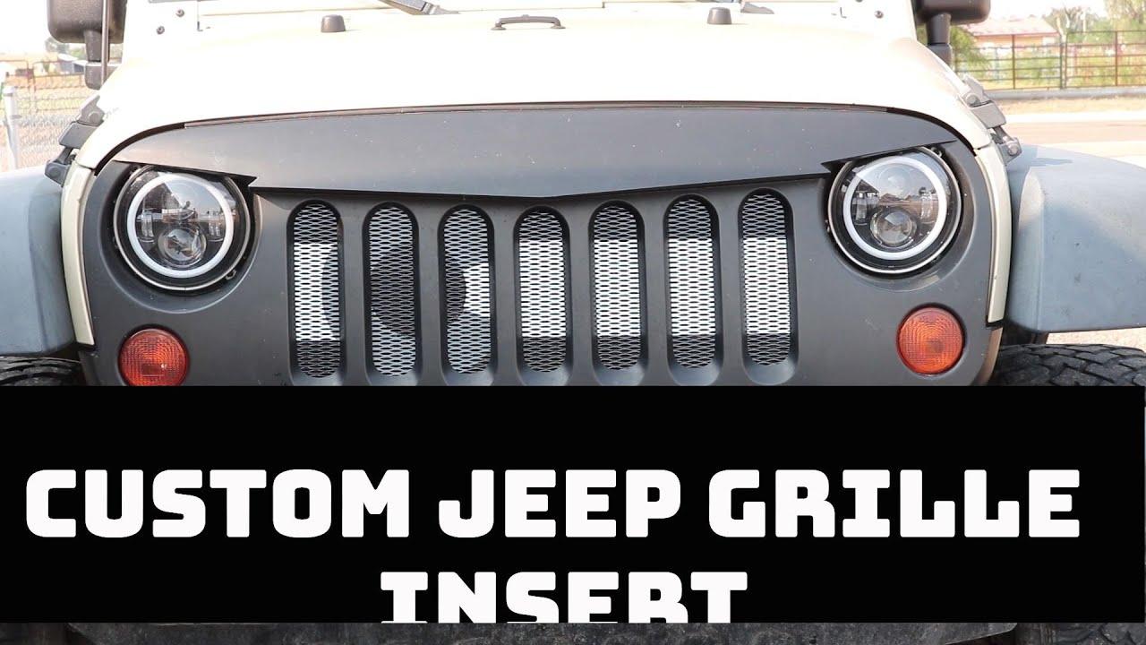 Custom Jeep Jk Grille Insert Install Youtube