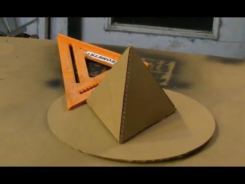 Cardboard Tetrahedron Pyramid Perfect Circle Solar How to make a pyramid out of cardboard