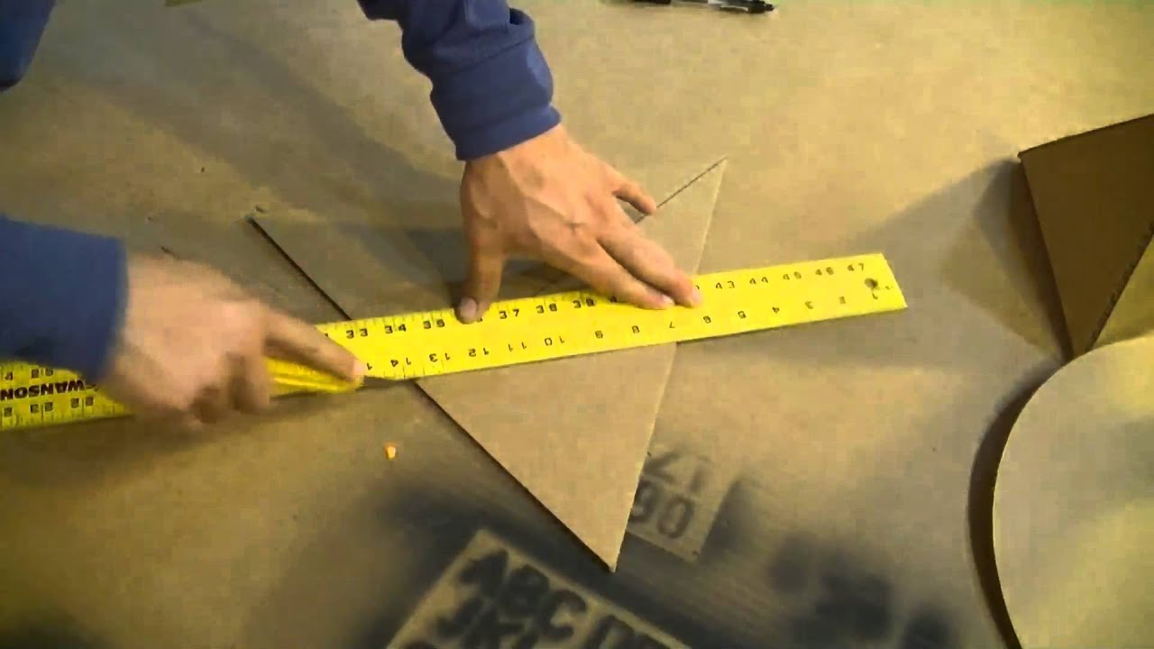 Cardboard Tetrahedron Pyramid Perfect Circle Solar How To Make A Pyramid Out  Of Cardboard  Youtube