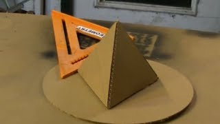 Cardboard Tetrahedron Pyramid Perfect Circle Solar How to make a pyramid out of cardboard