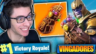 ACHEI A MANOPLA DO INFINITO E VIREI O THANOS!! Fortnite: Battle Royale