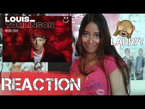 LOUIS TOMLINSON - MISS YOU ¿CANCION LARRY? REACTION  MELI SBEIB