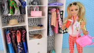 Новый Гардероб Куклы Барби Одевалки Видео для девочек Мультик Про Школу ай куклативи
