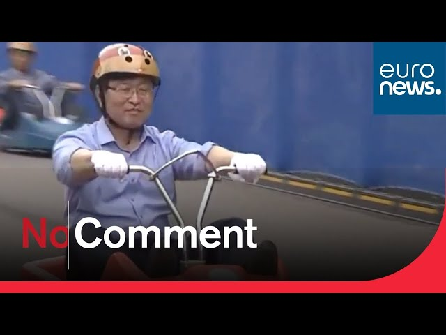 Watch: South Korea transforms closed mountain highway into luge track