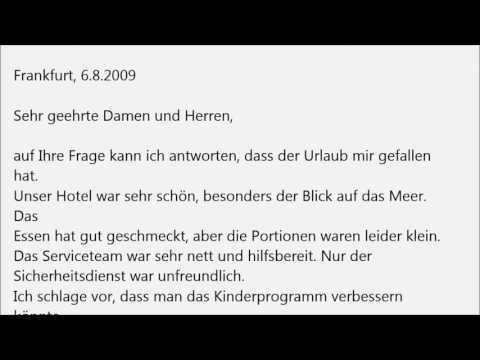 Deutsch Lernen B1 Prüfung Brief übungen Youtube On Repeat