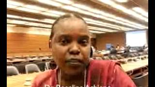 Expert Group Meeting, Geneva 2013: Video Message by Dr. Roseline Achieng