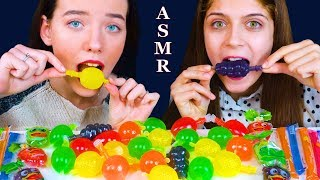 ASMR MOST POPULAR FOOD TIKTOK (JELLY FRUIT CANDY AND JELLY NOODLES, JELLY STRAWS) EATING SOUND