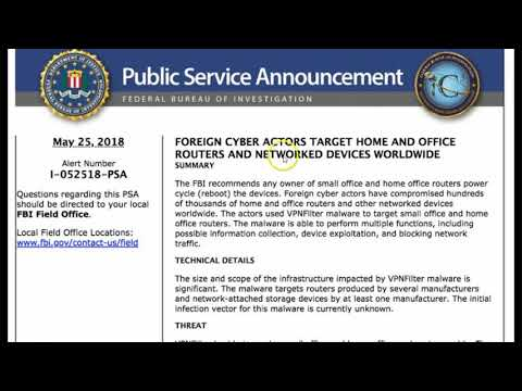 FBI Warns of Foreign Cyber Actors Targeting Home, Office Routers and Networked Devices Worldwide