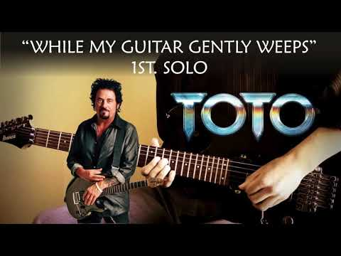 Steve Lukather style jam track - while my guitar gently weeps - for guitar solo