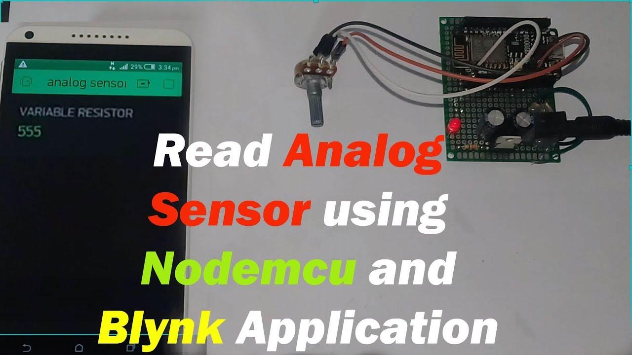 "Electronics Tutorial: Sensor Monitoring using Nodemcu and Blynk application  ""nodemcu esp8266+Blynk"""