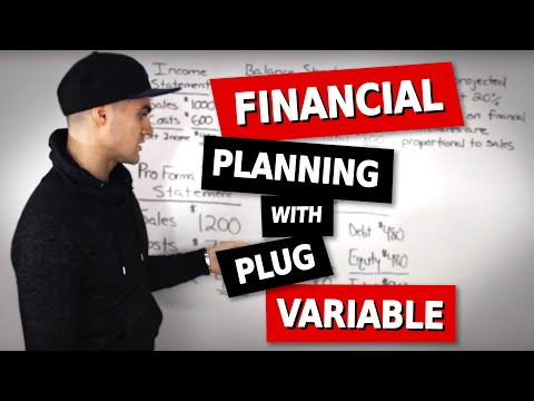 FIN 300 - Financial Planning Example 1 with Plug Variable - Ryerson University
