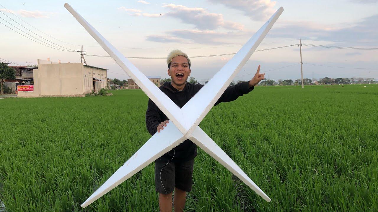 BERMAIN LAYANG-LAYANG BINTANG BESAR UNIK 3D TERBANG KEREN!!!