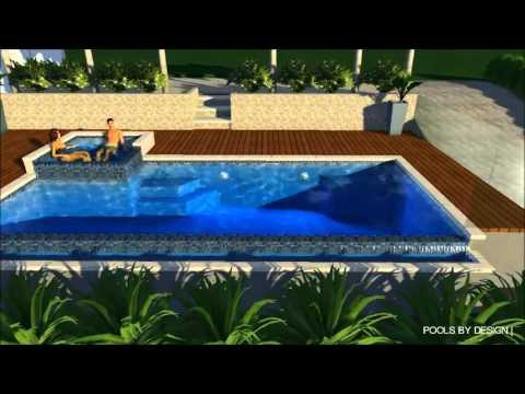 Infinity Edge Pool & Spa Combo - Kalamunda - Pools by Design - YouTube