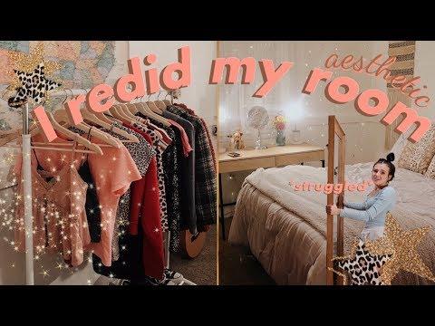 bedroom makeover (redoing my room) + room tour|| *mature* vsco inspired !