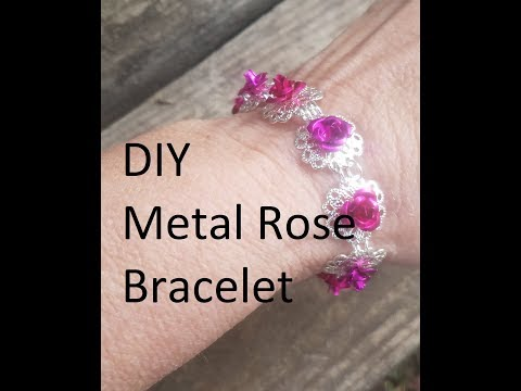 DIY Metal Rose Bracelet