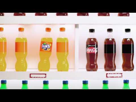 Coca-Cola создала экологическую историю любви бутылок Coca и Fanta
