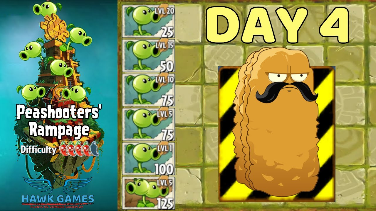 Peashooters' Rampage Lost City 4 [Protect Tall-nut]