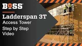 Setting up a BoSS Ladderspan 3T Mobile Access Tower