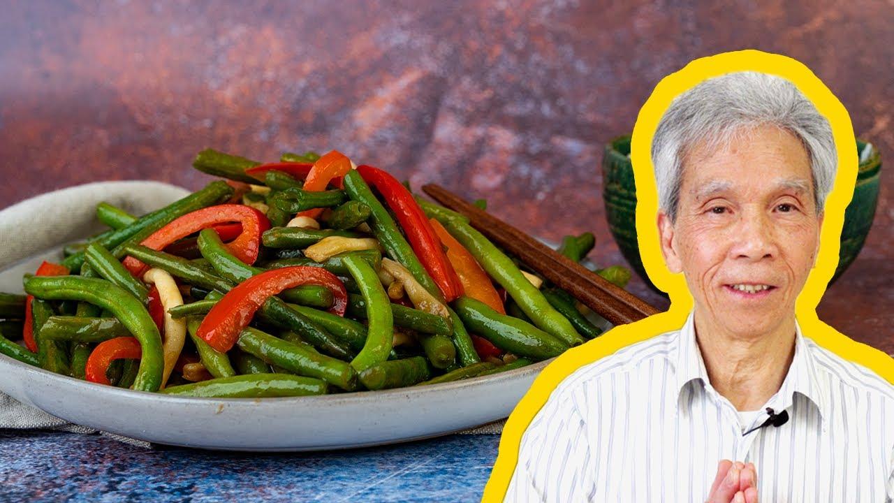 😊 My dad's easy Stir Fried Green Beans (干炒四季豆)!