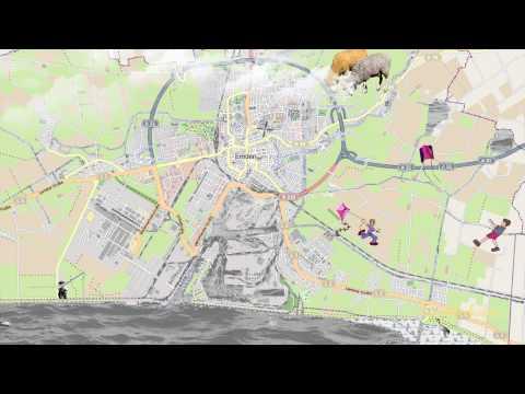 Experimental Emden City Map - Emder Stadtplan Experiment - Ostfriesland - East Frisia