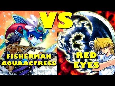 Real Life Yugioh - FISHERMAN AQUAACTRESS vs RED EYES   September 2017 Scrub League