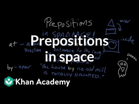 Prepositions of space | The parts of speech | Grammar | Khan Academy