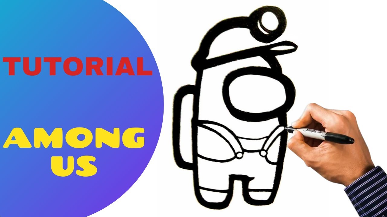 Como Desenhar Personagem De Among Us Skin Miner Gear Em 3 Minutos Youtube