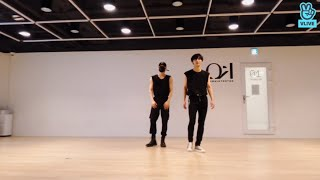 Gambar cover ATEEZ San and Seonghwa dancing to NCT 127 and BTS