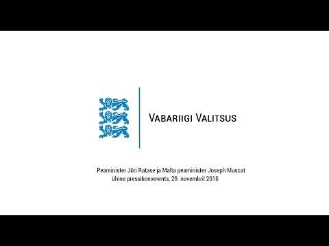 Peaminister Ratase ja Malta peaminister Joseph Muscati pressikonverents, 29. novembril 2016