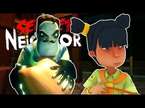 The Neighbor is After Us in his Mansion! - Secret Neighbor Hide and Seek Gameplay |