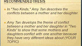 two kinds by amy tan character analysis essay  4 07