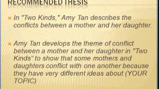 thesis statement for rules of the game by amy tan