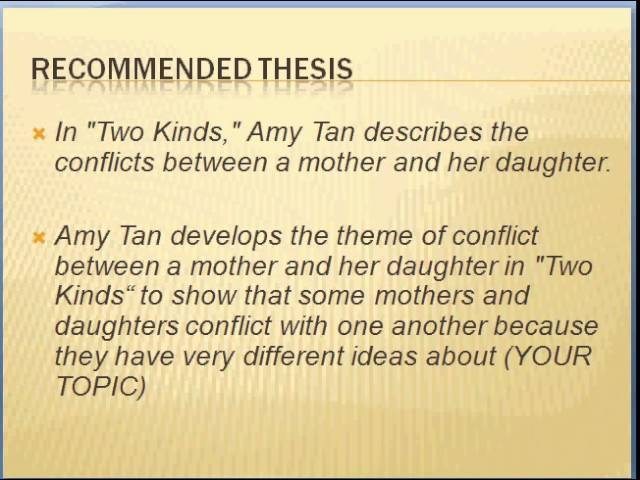 compare and contrast two kinds by amy tan