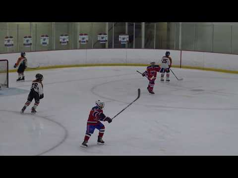 March Madness Tournament Game #1 - Woonsocket North Stars vs Salmon River Ice Hockey Team (4K)