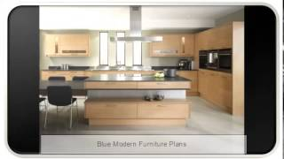 Blue Modern Furniture Plans