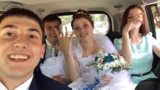 свадьба, на машине