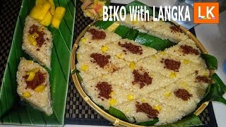 Biko Kakanin with Langka (Sticky Rice Cake)