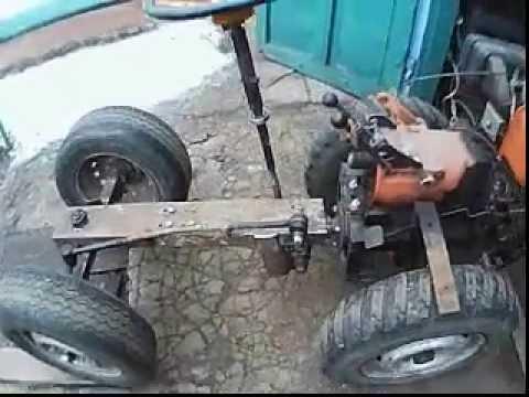 Купить мини-трактор на базе мотоблока с двигателем (18 л. С. ,. Что похожий на мотоблок с адаптером, он тем не менее, также имеет руль, педали,