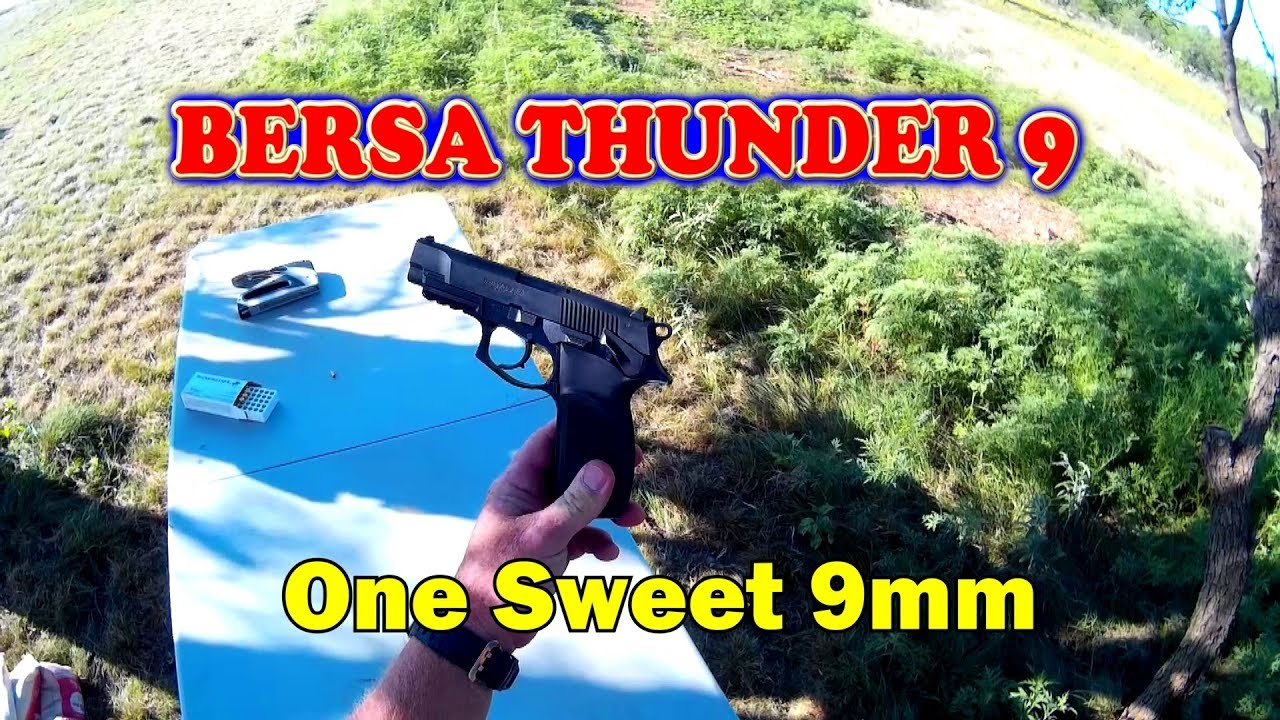 Review: Bersa Thunder 9 semi auto pistol   One sweet 9mm!
