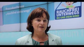 """Marlene Mortler zur Kampagne """"rauchfrei unterwegs"""""""