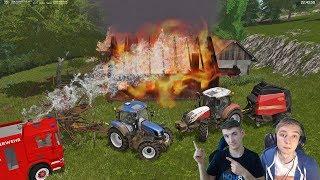 ☆Ogniste Prasowanie Łąk!☆ Pożar u Heńka ! ☆ Farming Simulator 2017