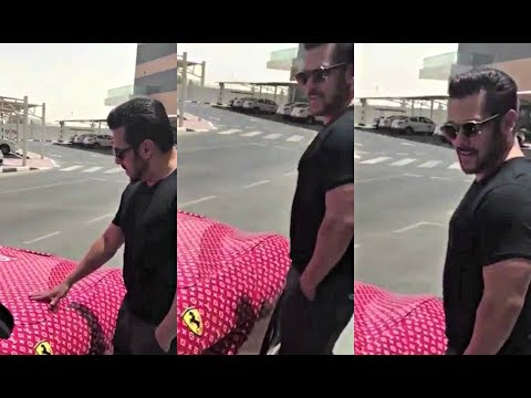 Salman Khan Checks Out Rashed Belhasa Ferrari