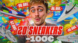 20 PAIRES de SNEAKERS à MOINS de 100€ !