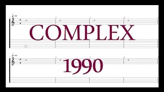 COMPLEX - 1990 [Guitar & Bass Tab]